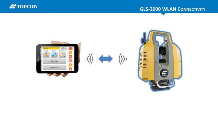 Topcon paziņo par iespēju ar WLAN savienot GLS-2000 lāzera skeneri ar Android planšetēm.
