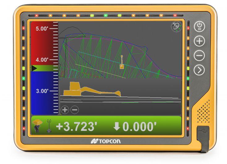 Topcon jaunais GX-75 mašīnkontroles monitors