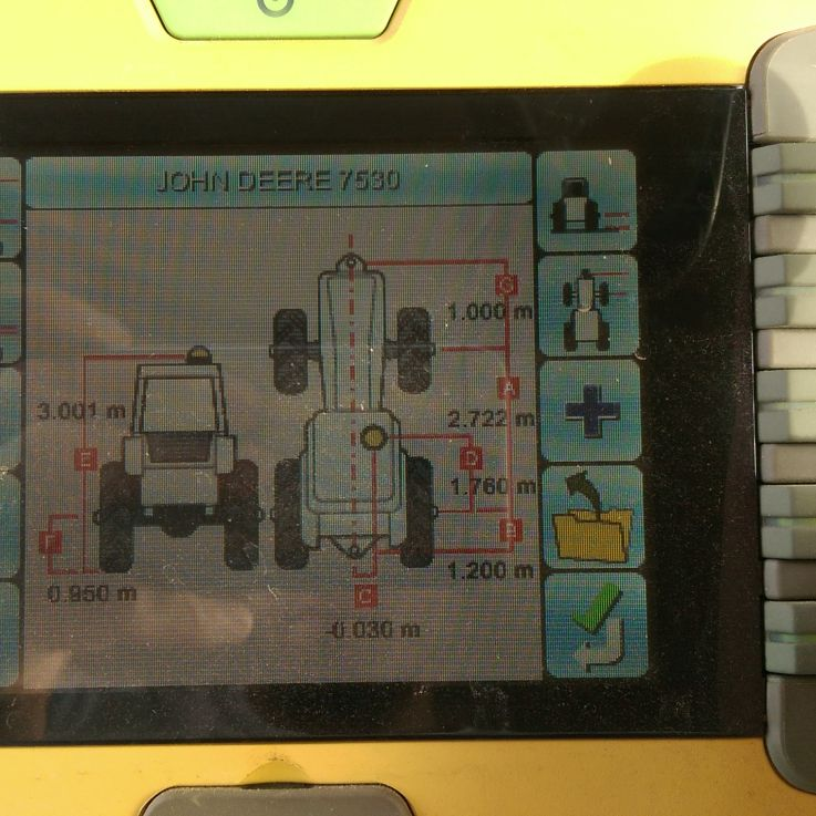 John Deere 7530 traktors